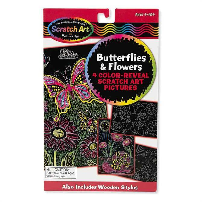 Melissa and Doug Scratch Art - Butterflies and Flowers