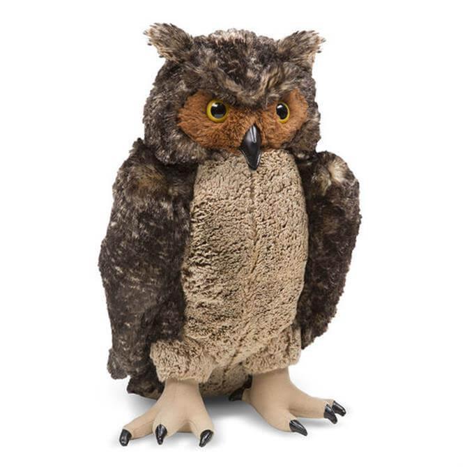 Melissa and Doug Lifelike Plush Owl