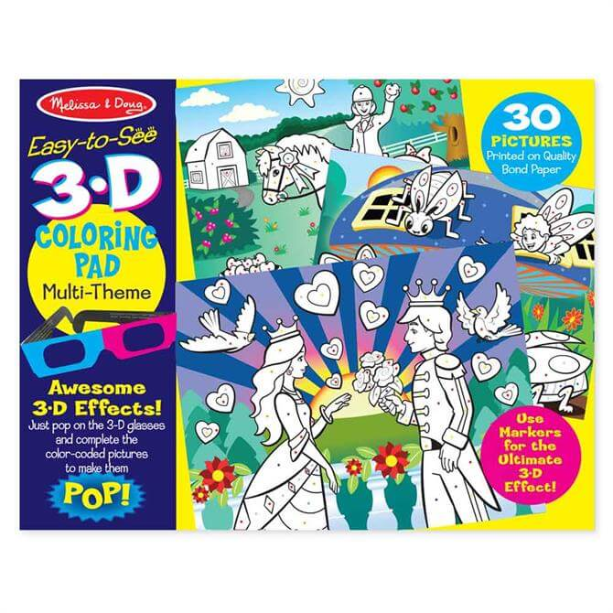 Melissa and Doug 3D-Marker Colouring Pad