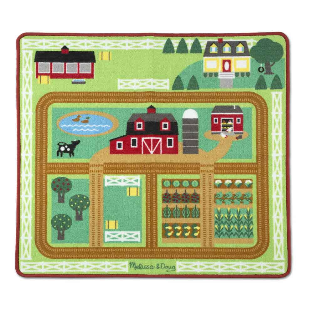 An image of Melissa & Doug Round the Barnyard Farm Rug