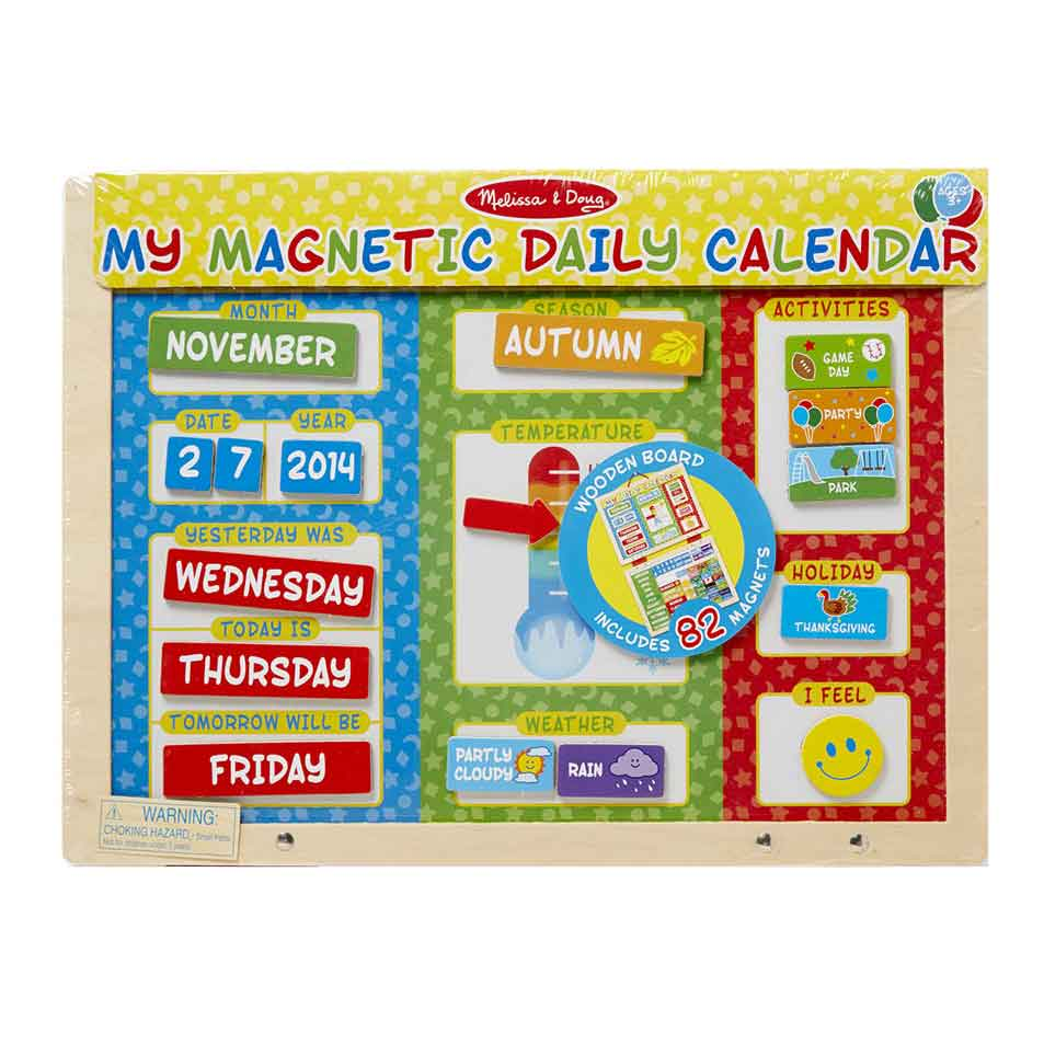 An image of Melissa & Doug My Magnetic Daily Calendar