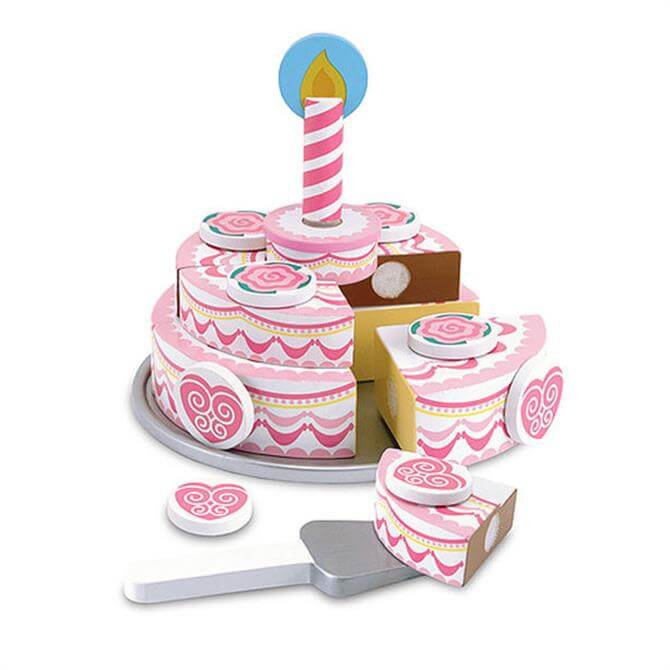 Melissa & Doug Wooden Triple Layer Party Cake