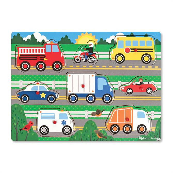 Melissa and Doug Vehicle Peg Puzzle