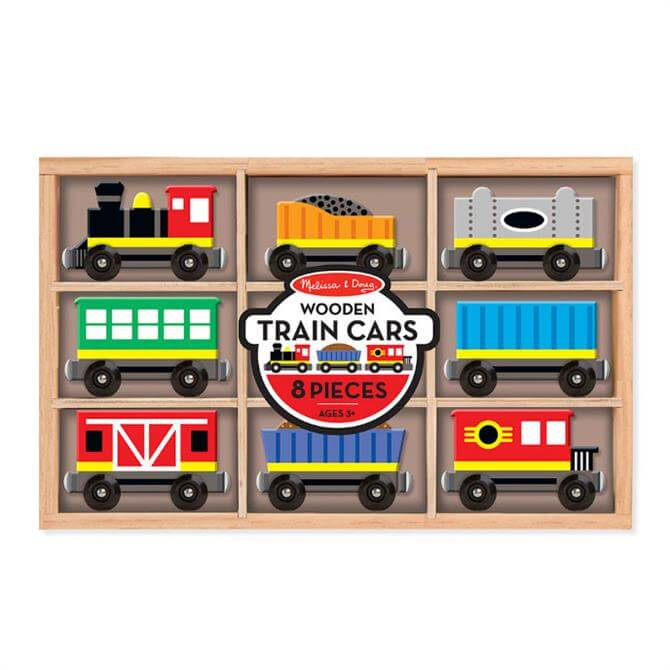 Melissa & Doug Wooden Train Carriage Set