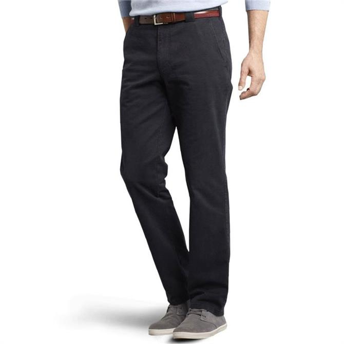 MEYER Roma Stretch Cotton Chino Trousers