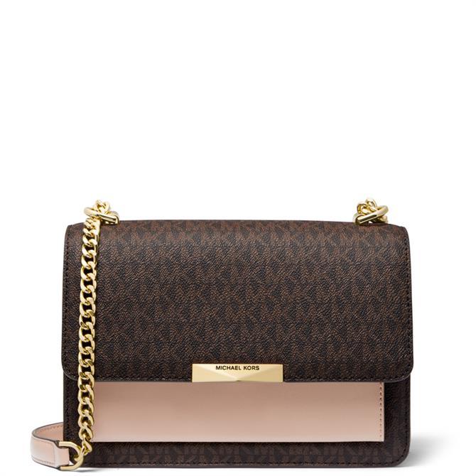 Michael Michael Kors Jade Leather Logo Shoulder Bag