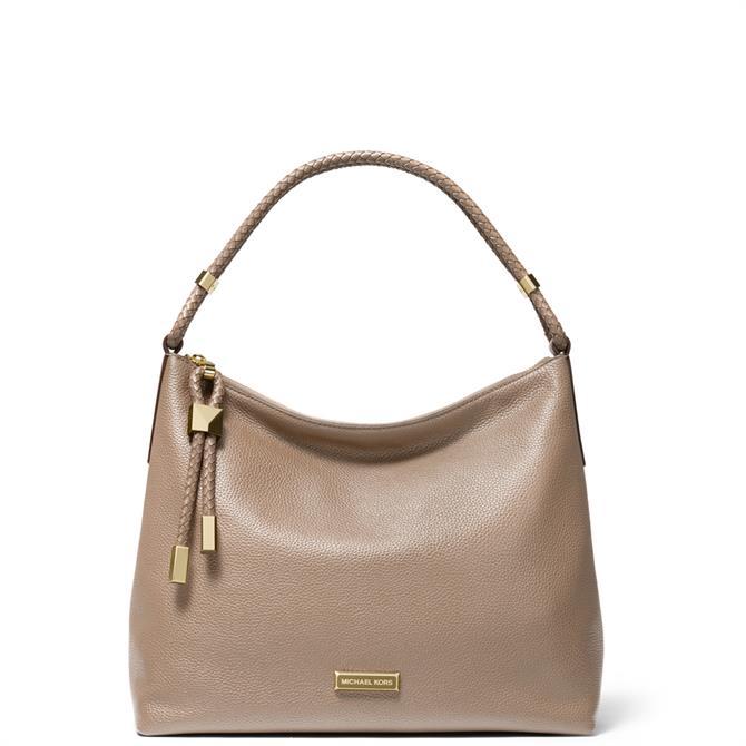 Michael Michael Kors Lexington Large Truffle Pebbled Leather Shoulder Bag