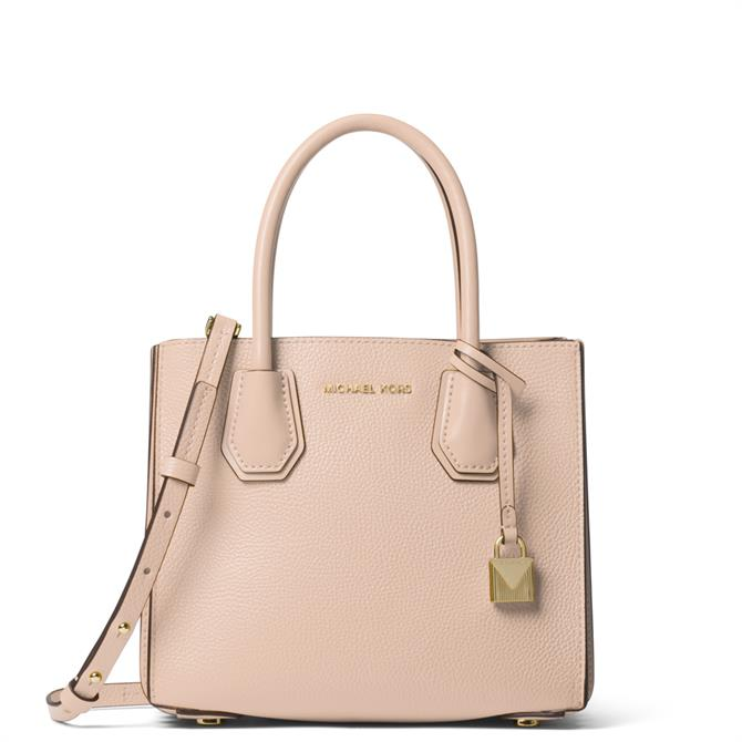 Michael Michael Kors Mercer Soft Pink Pebbled Leather Accordion Crossbody Bag