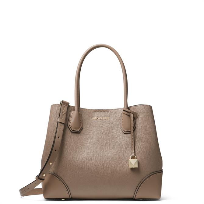 Michael Michael Kors Mercer Gallery Truffle Medium Pebbled Leather Satchel