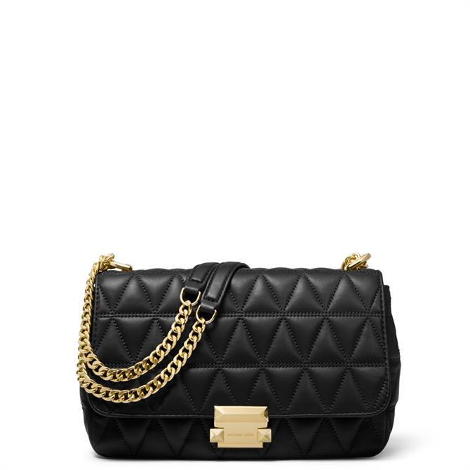Michael Michael Kors Black Sloan Large Quilted Leather Shoulder Bag