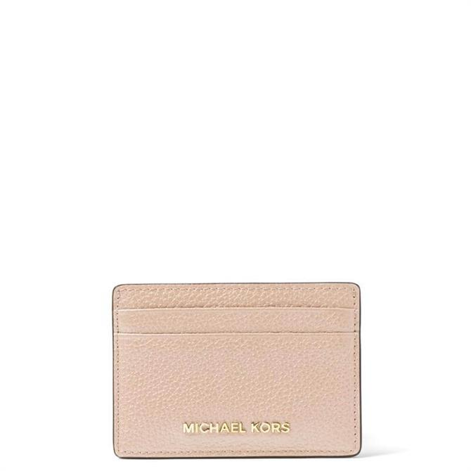 Michael Michael Kors Soft Pink Pebbled Leather Card Case