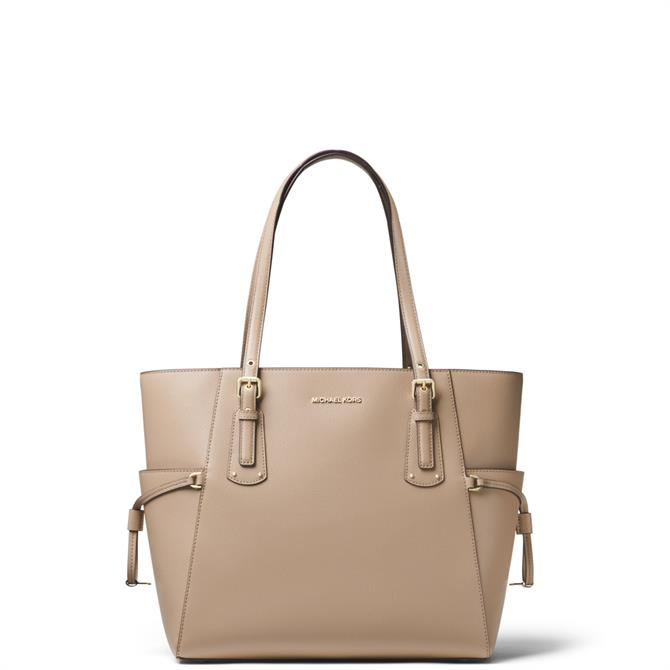 Michael Michael Kors Voyager Small Truffle Crossgrain Leather Tote Bag