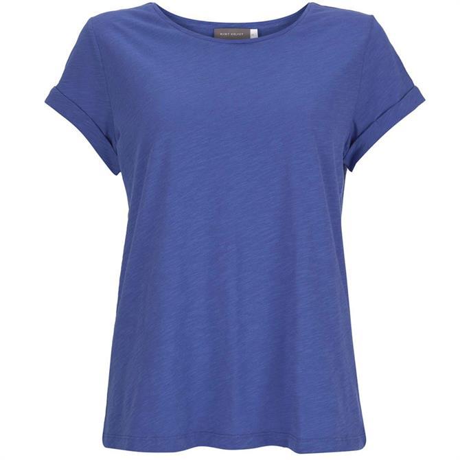 Mint Velvet Blue Cotton Star T-Shirt