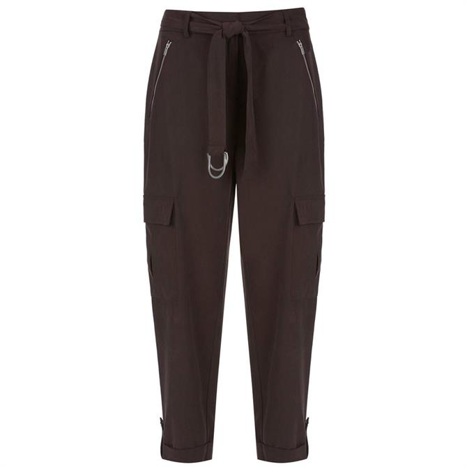 Mint Velvet Chocolate Utility Trousers