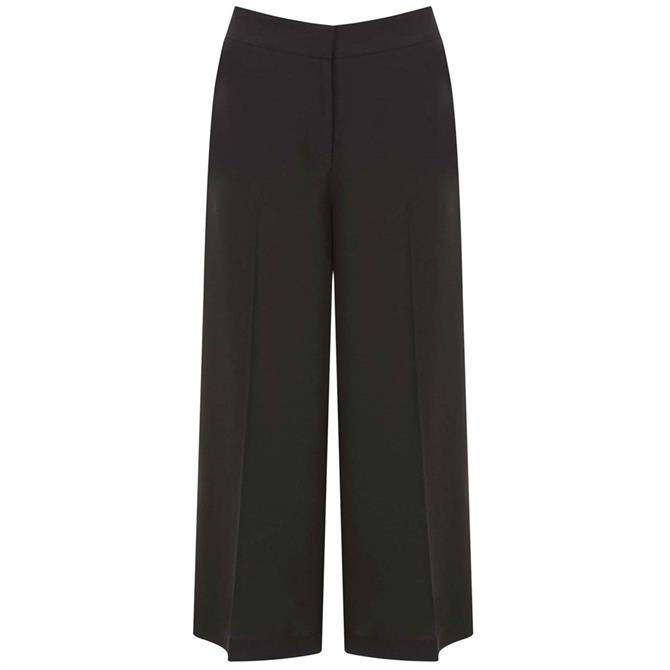 Mint Velvet Black Crepe Wide Leg Trouser