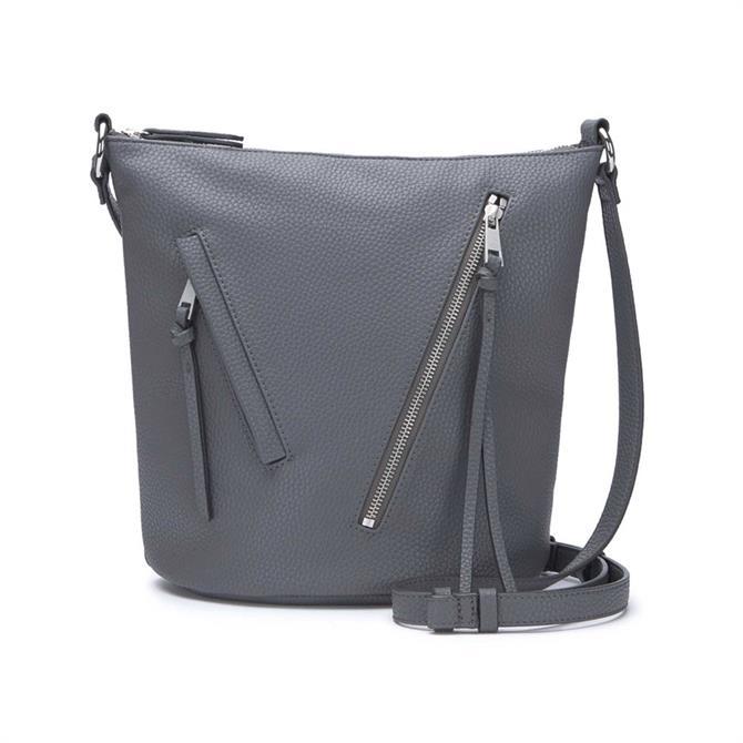 Mint Velvet Eden Steel Zip Bucket Bag