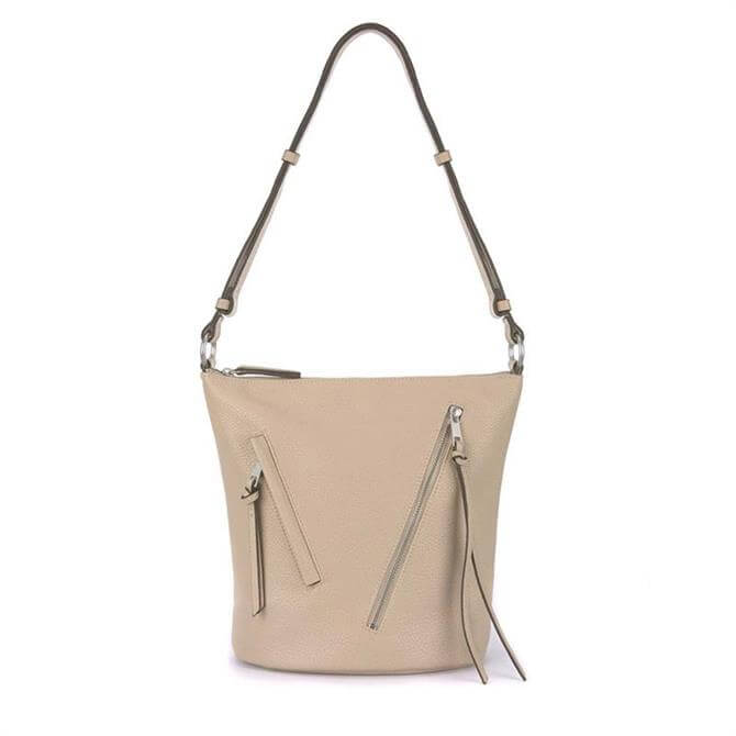 Mint Velvet Eden Sand Zip Bucket Bag