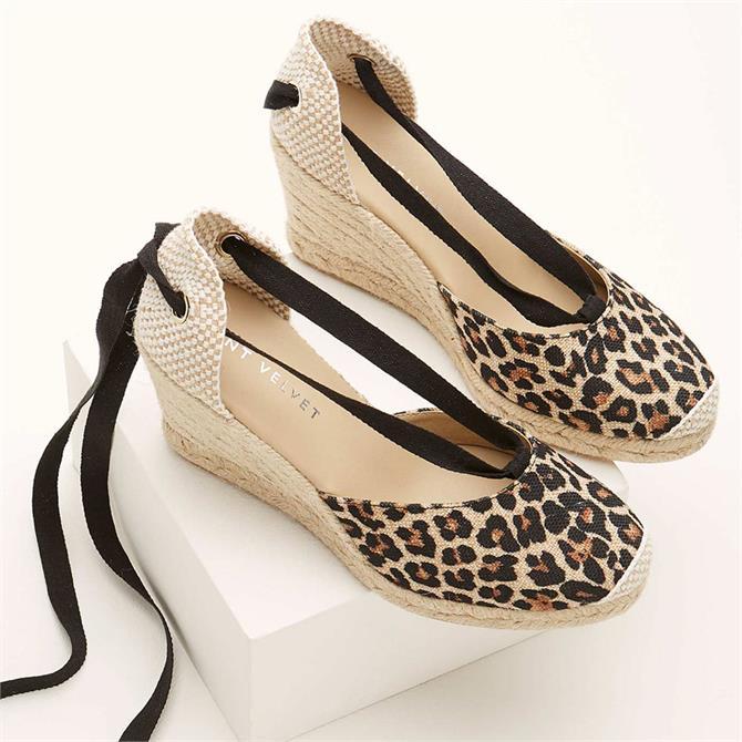 Mint Velvet Everly Leopard Espadrille Sandal