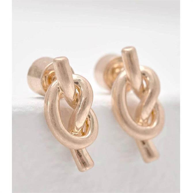 Mint Velvet Knotted Stud Earrings