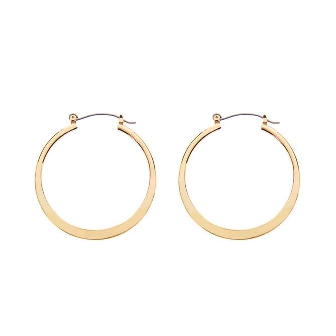 Mint Velvet Gold Tone Simple Hoop Earrings