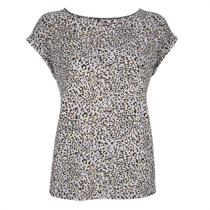 Mint Velvet Grey Animal Foil Print T-Shirt
