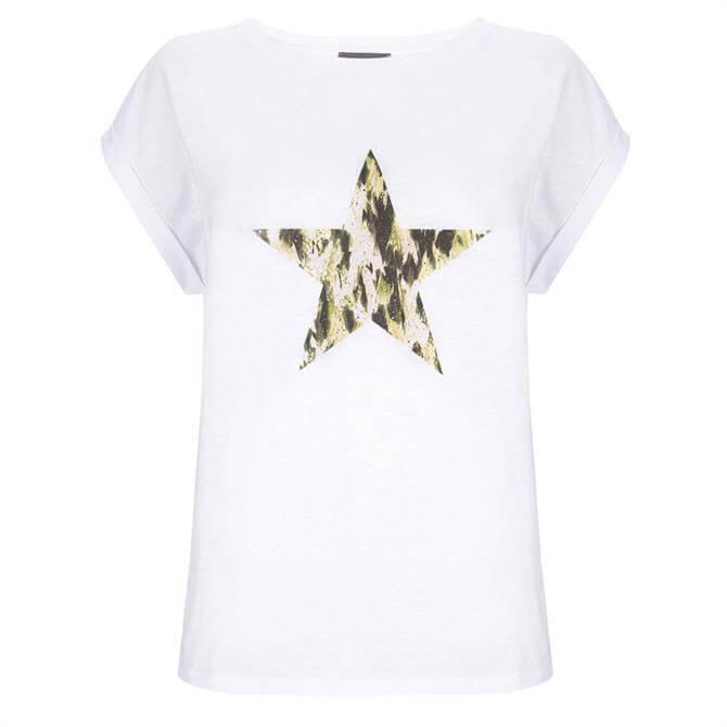 Mint Velvet Ivory Haithe Print Star T-Shirt