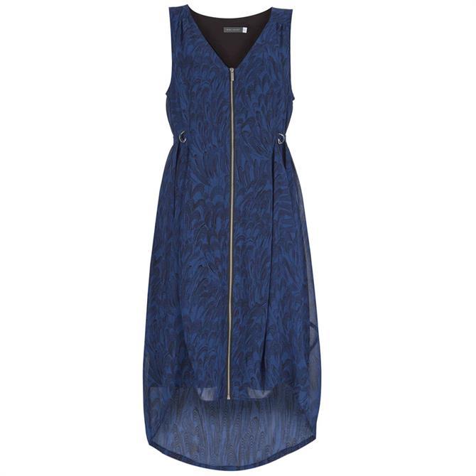 Mint Velvet Hope Print Zip Cocoon Dress