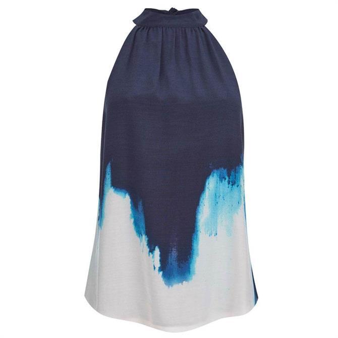 Mint Velvet Iris Tie Dye Print Halter Top