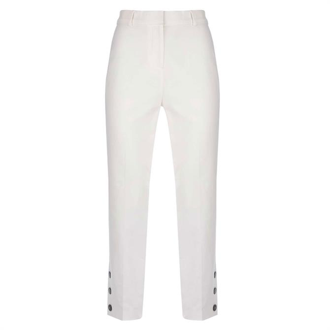 Mint Velvet Ivory Button Hem Capri Trouser