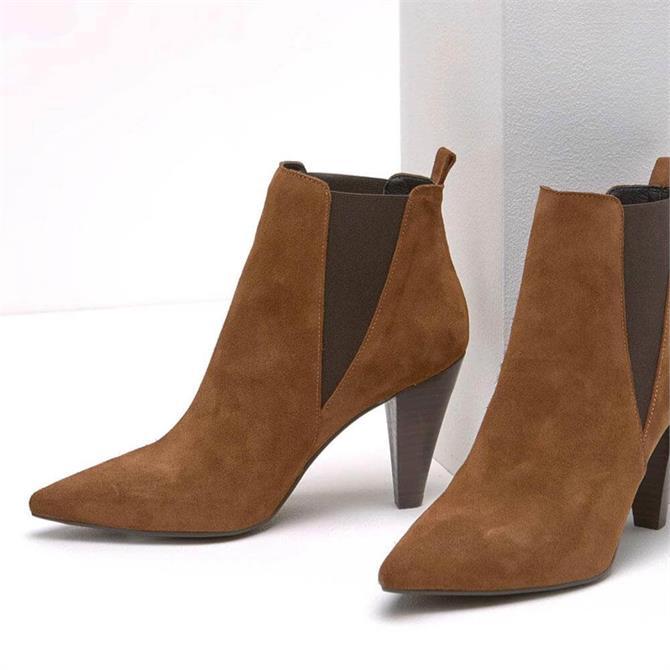 Mint Velvet Kayla Chestnut Suede Boots