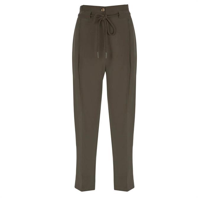 Mint Velvet Khaki Rope Belted Trouser