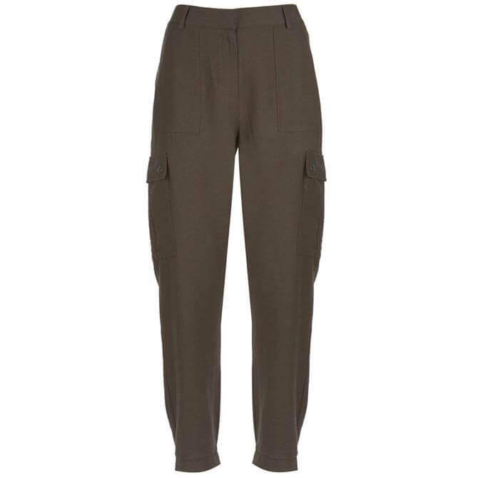 Mint Velvet Khaki Utility Trouser