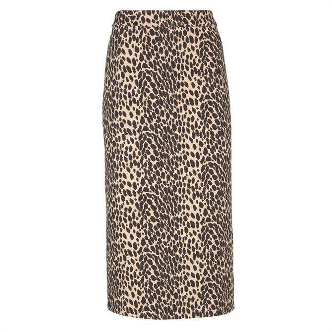 Mint Velvet Leopard Jacquard Pencil Skirt