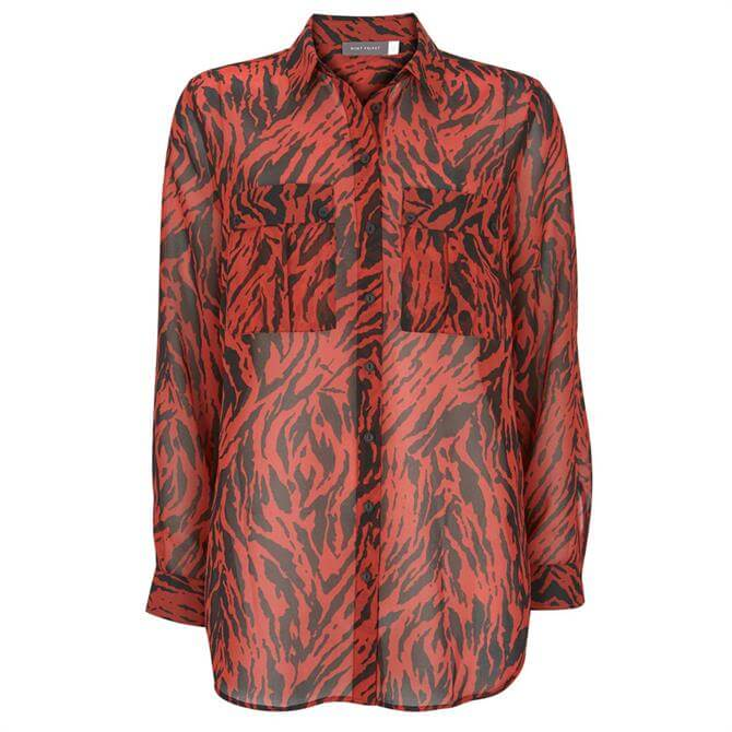 Mint Velvet Lizzie Zebra Print Shirt
