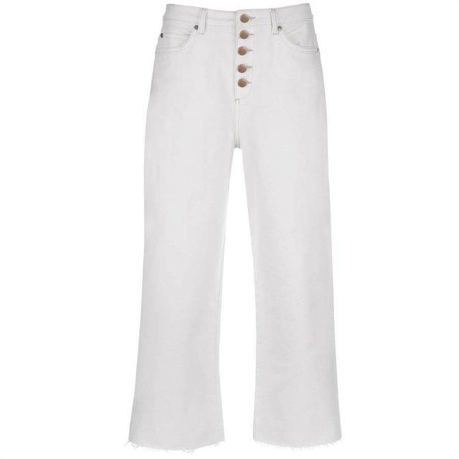 Mint Velvet Madison Off White Button Jean