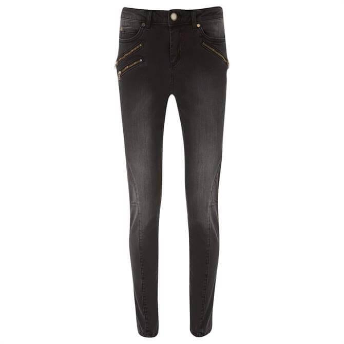 Mint Velvet Phoenix Black Biker Jeans