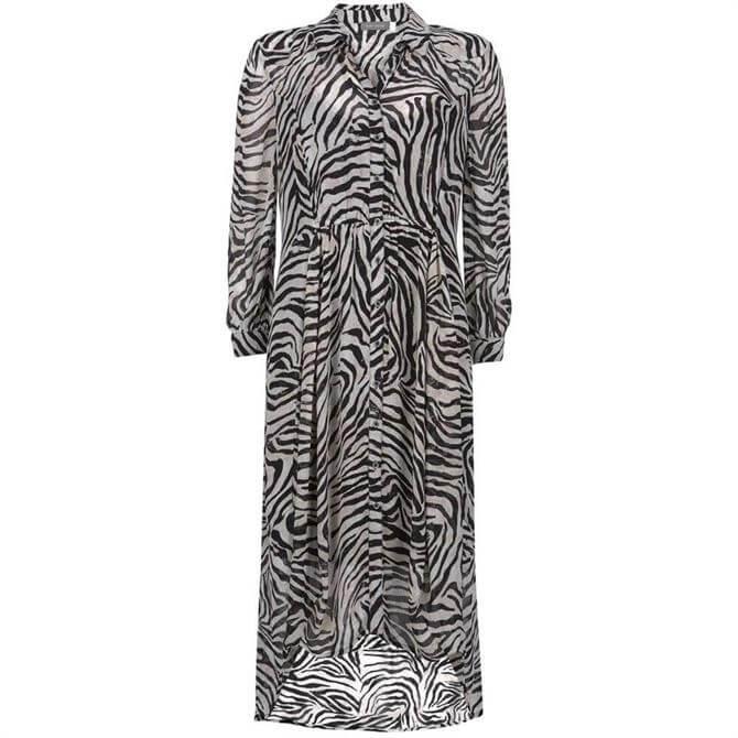 Mint Velvet Naomi Zebra Print Shirt Dress
