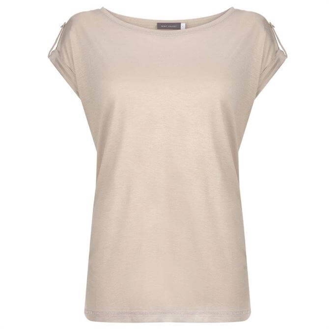 Mint Velvet Neutral Utility T-Shirt