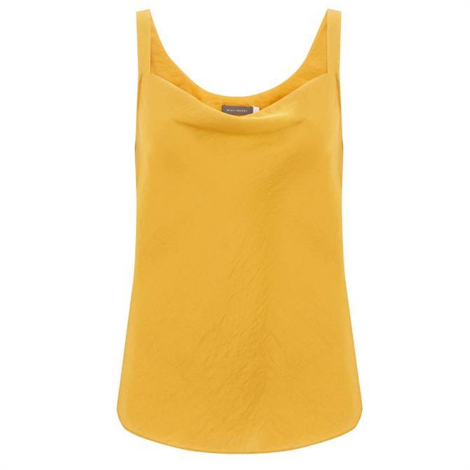 Mint Velvet Ochre Cowl Front Vest Top