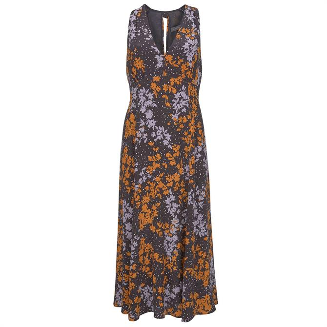 Mint Velvet Olivia Print V-Neck Midi Dress