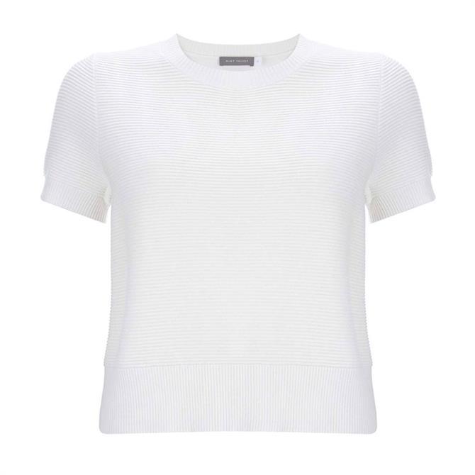 Mint Velvet Ottoman Front Knited T-shirt Top