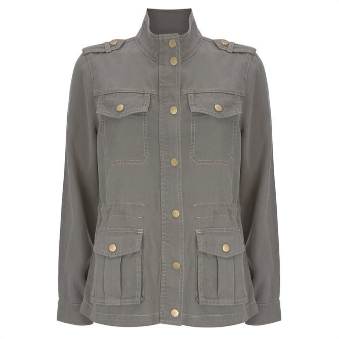 Mint Velvet Pale Khaki Utility Jacket