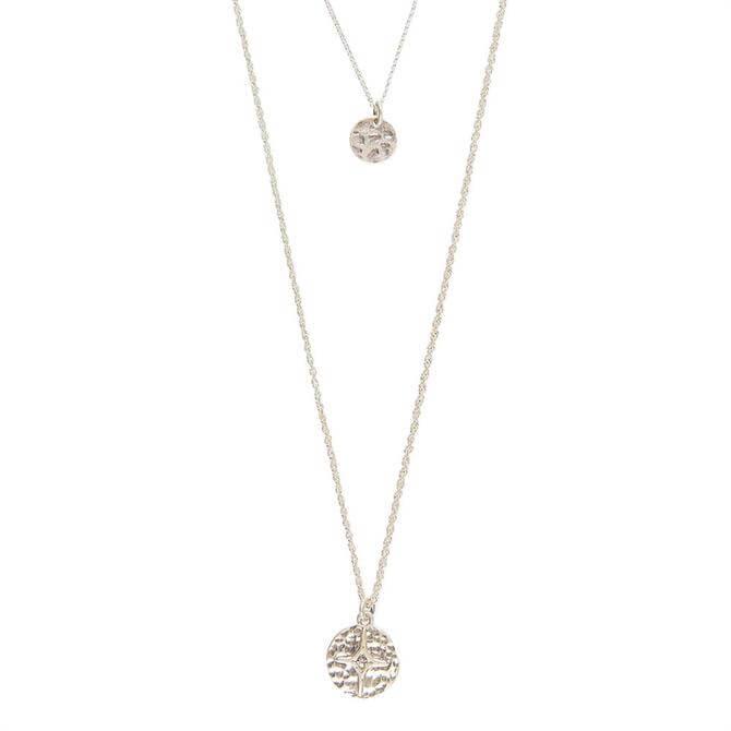 Mint Velvet Silver Tone Layered Necklace