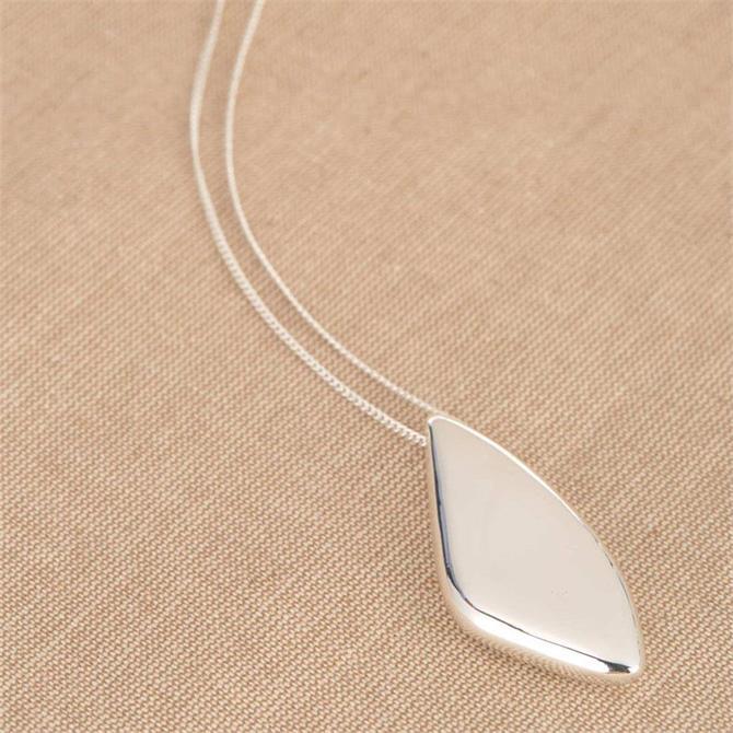 Mint Velvet Silver Tone Nugget Pendant Necklace