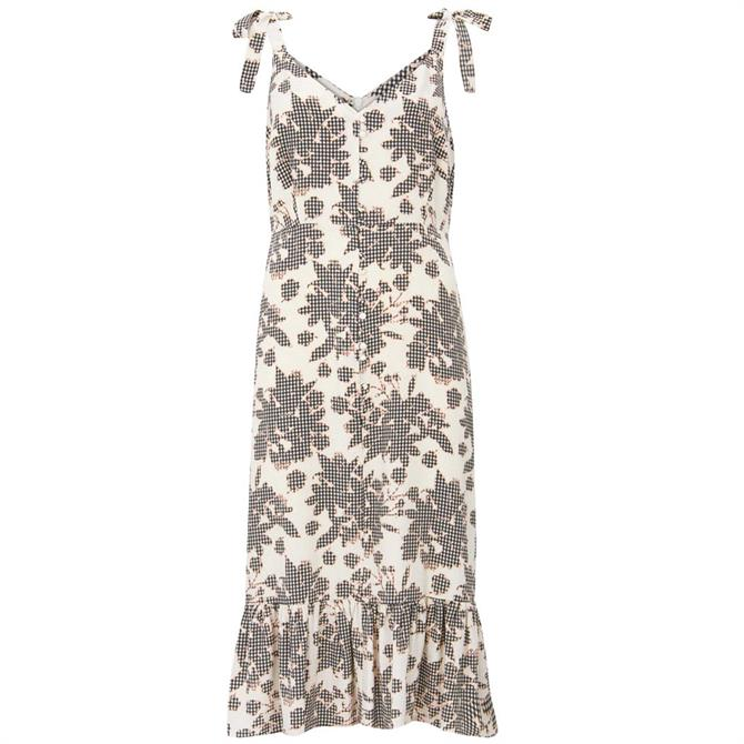 Mint Velvet Suki Print Ruffled Hem Dress