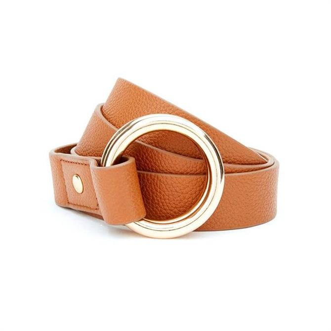 Mint Velvet Tan Leather Ring Belt