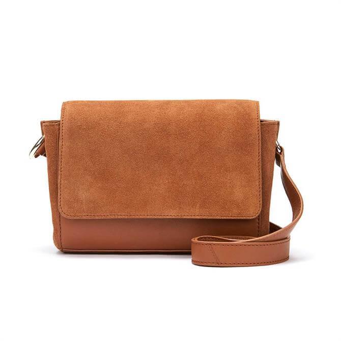Mint Velvet Tia Tan Suede Cross Body Bag