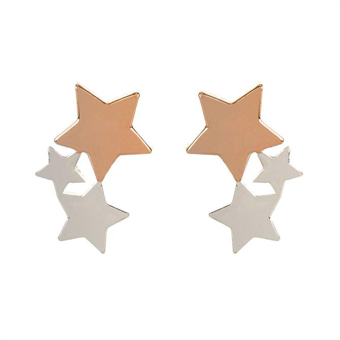 Mint Velvet Trio Star Stud Earring