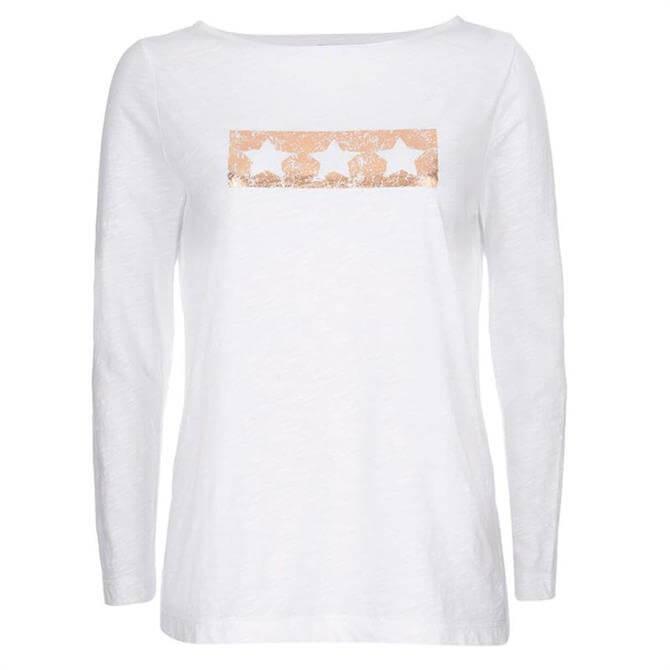 Mint Velvet Ivory Triple Star Cotton T-Shirt