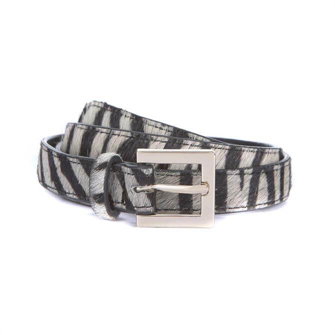 Mint Velvet Zebra Print Belt